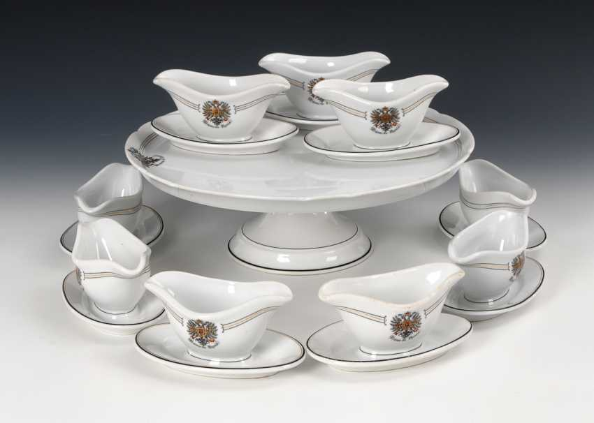 "Table top and 9 small sauce boats ""Maisson de Russie"", Hutschenreuther. - photo 1"