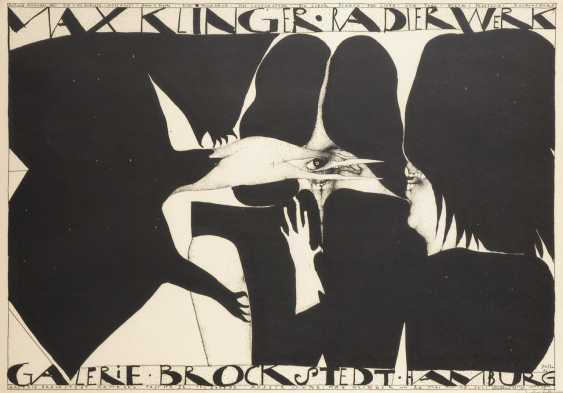 """JANSSEN, HorsTiefe: Plakat """"Max Klinger Radierwerk"""" - Foto 1"""