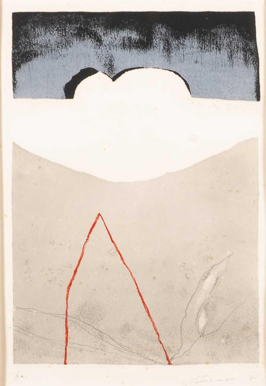 SANTOMASO, Giuseppe: Abstrakte Komposition. - Foto 1