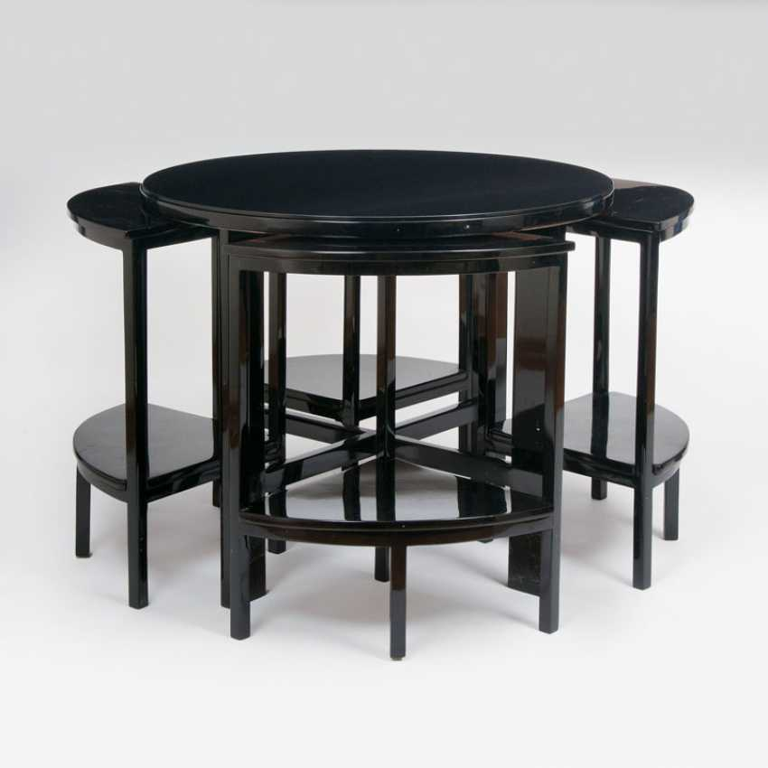 """Round Art Deco side table with segment table"" - photo 1"
