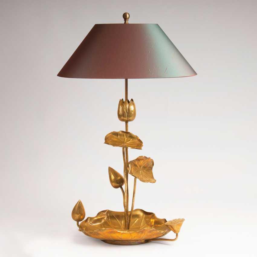 ''Hollywood-Regency Lotus-Tischlampe'' - photo 1