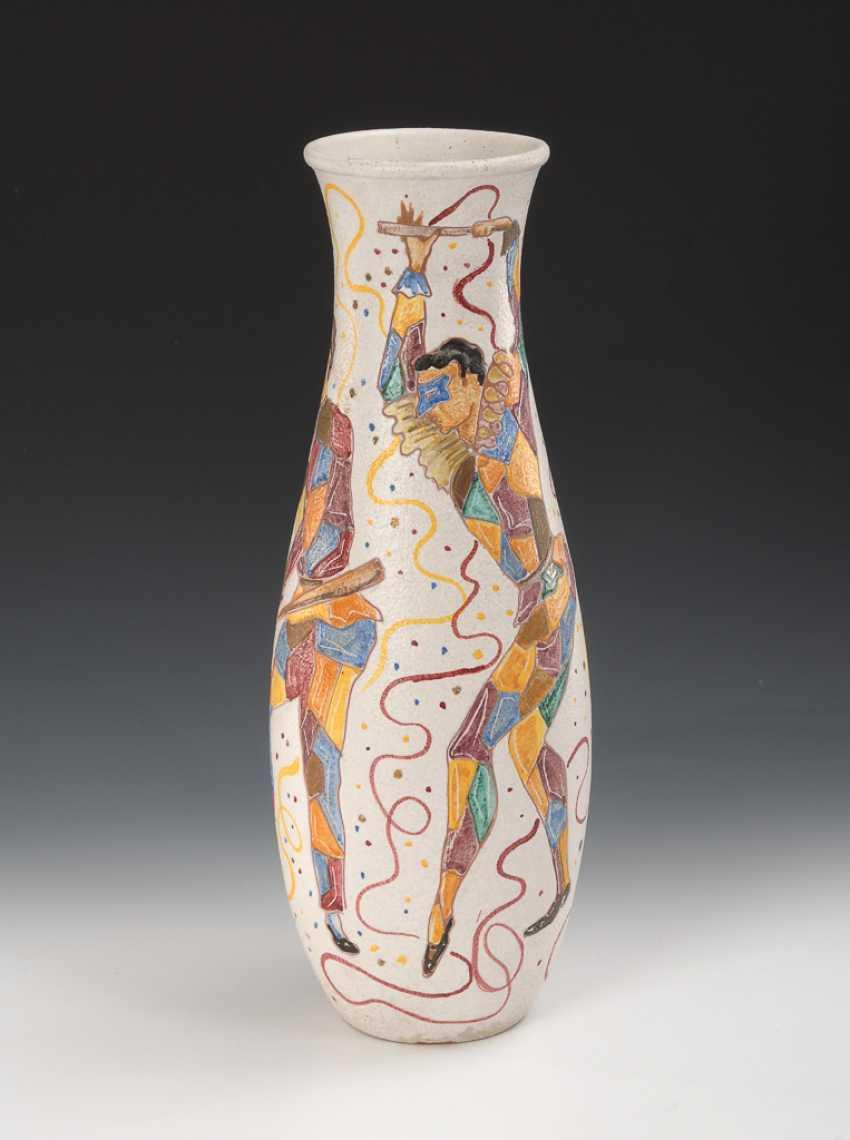 FANTONI, MARCELLO: Vase mit Harlekinen. - Foto 1