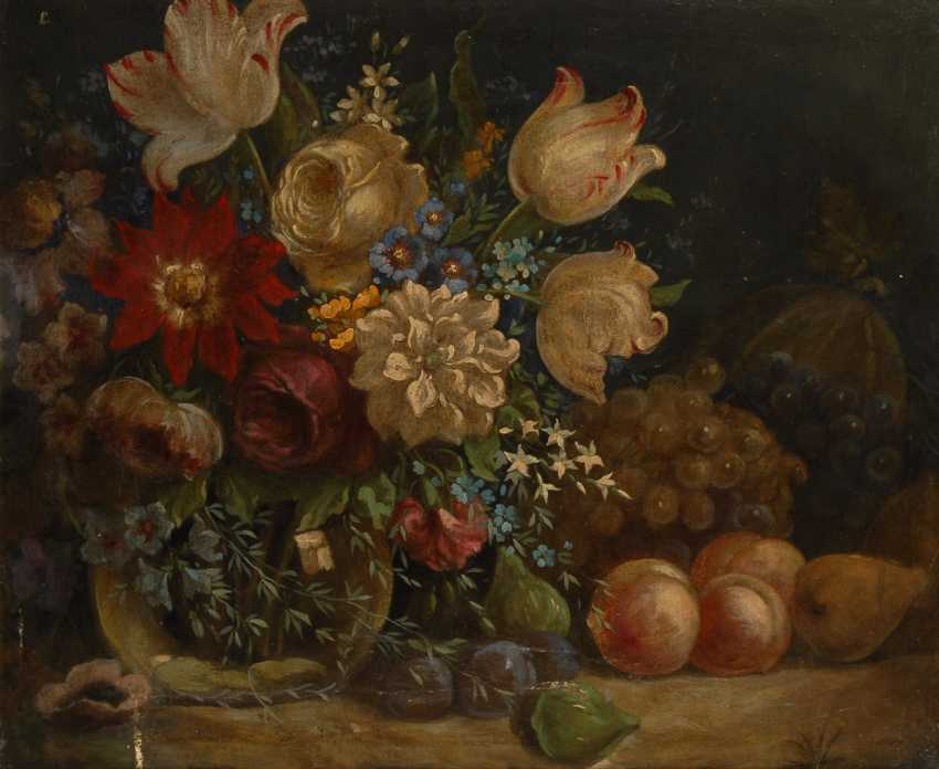 Anonymous: still life with flowers from around 1800. - photo 1
