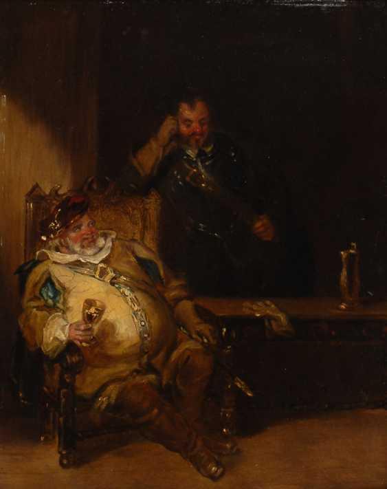 Anonym: Zwei Zecher in Renaissancekostümen. - Foto 1
