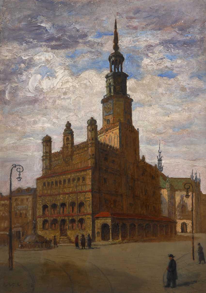 Ansicht des Renaissance-Rathauses in Poznan - Polen. - Foto 1