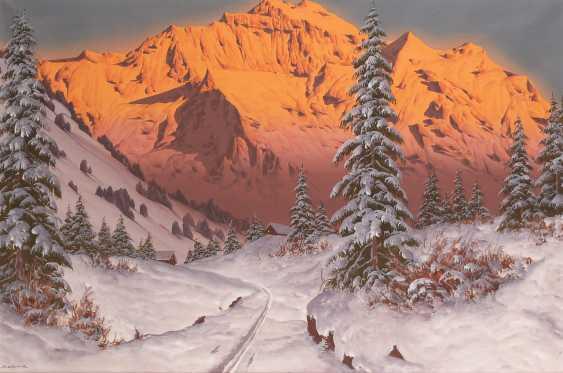 BARMA, Hans: the Alpine glow in the Winter. - photo 1