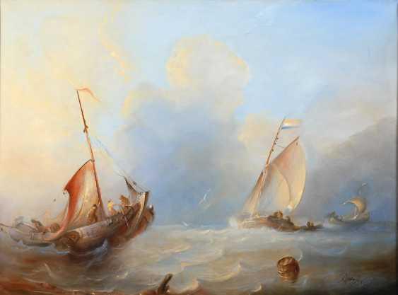 BEEST, Albert van: ships on the open sea. - photo 1