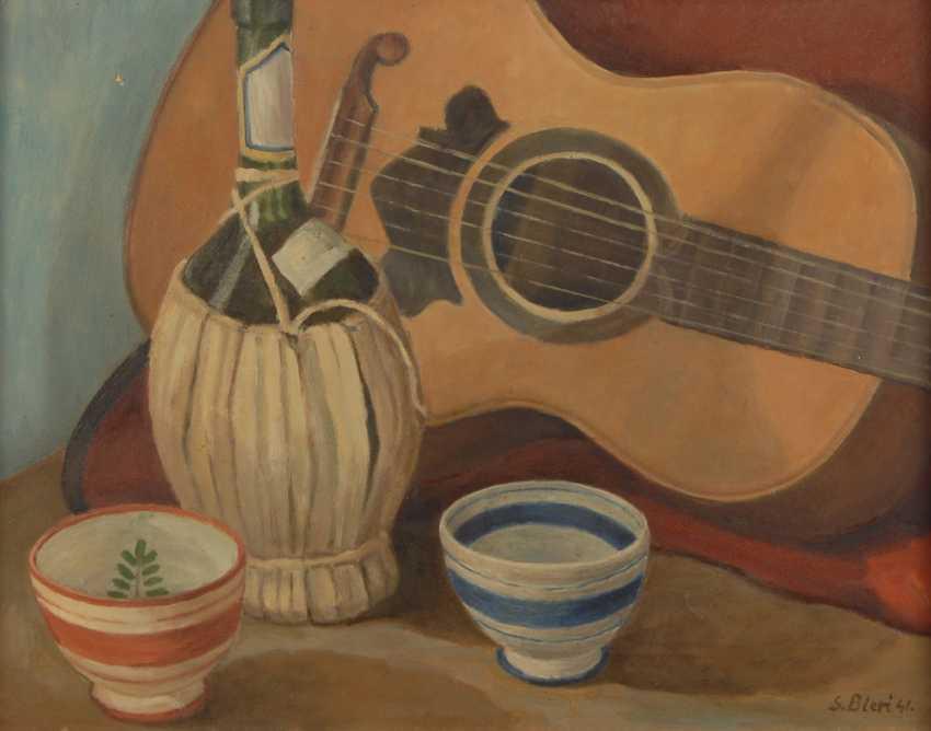BIERI, SigmunDurchmesser: Stillleben mit Gitarre. - Foto 1