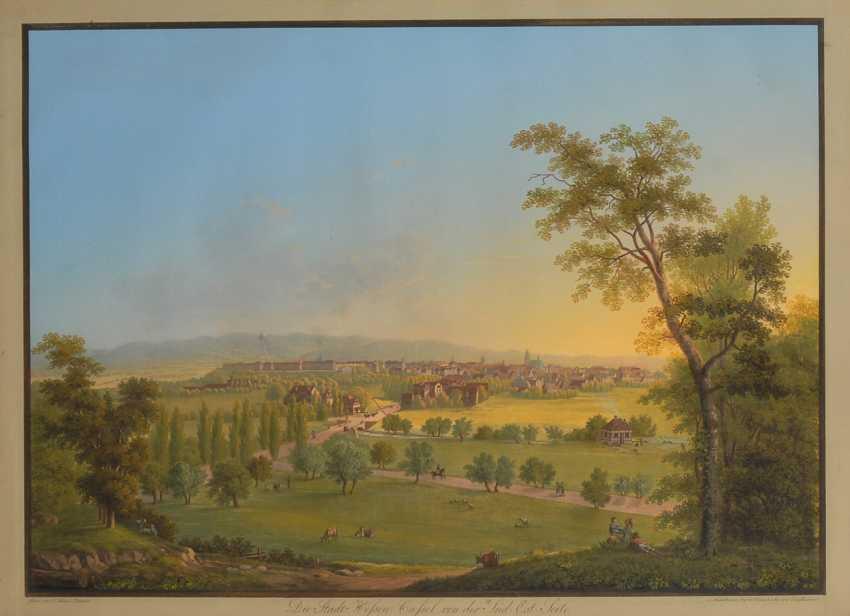 BLEULER, Johann Heinrich d.J.: Blick über Kassel. - Foto 1