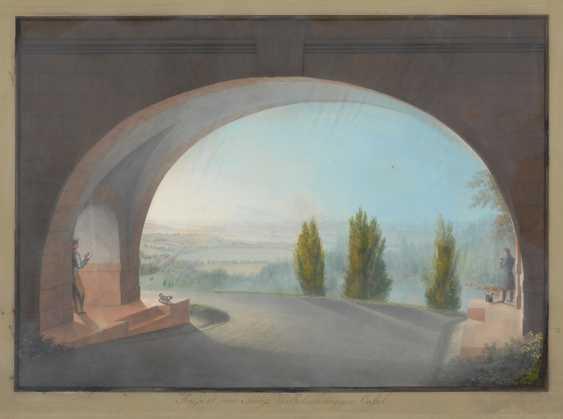 BLEULER, Johann Heinrich d.J.: Blick von Wilhelmshöhe. - Foto 1