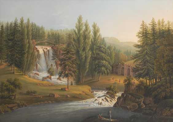"BLEULER, Johann Heinrich d.J.: ""Die Teufelsbrücke"". - Foto 1"