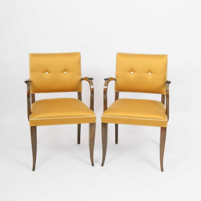 """""""Pair Of Art Deco Bridge Armchairs"""" - photo 1"""