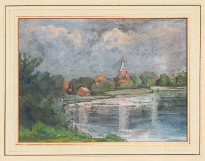 BURMESTER, Georg: view of Mölln/Lauenburg. - photo 1