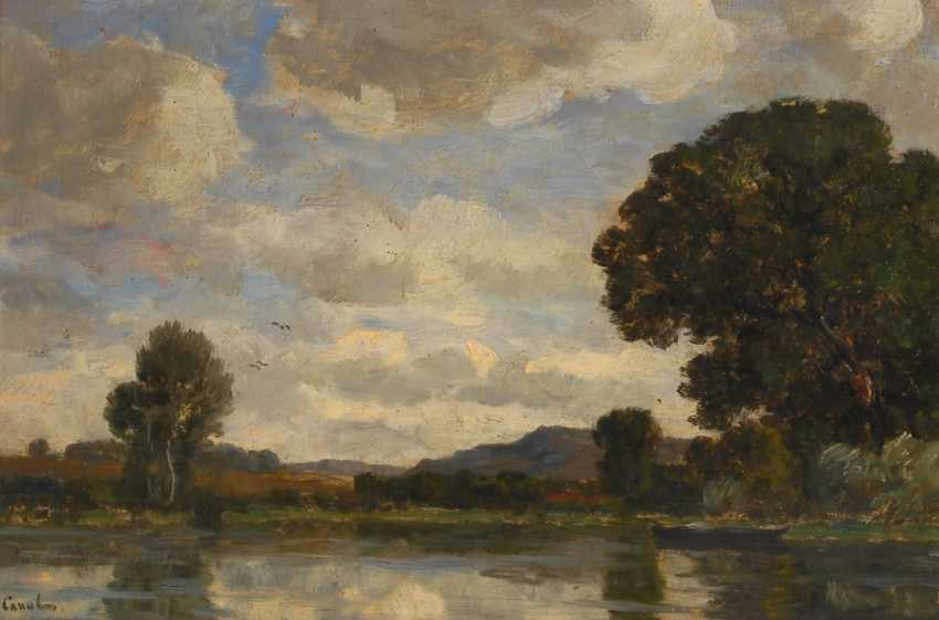 CANAL, Gilbert by: Summer river landscape. - photo 1