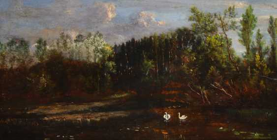 CHARPENTIER, Alber depth: swans in the lake. - photo 1