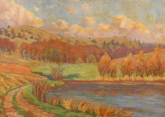 COMPTON, Edward Harrison: in a Sunny landscape. - photo 1