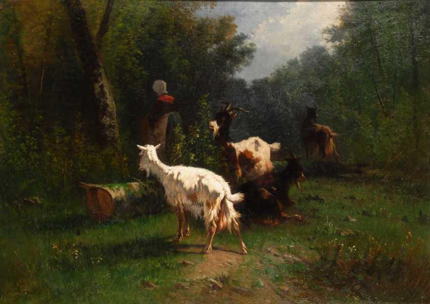 CORTÉS, Antonio Cordero: Ziegen auf der Weide. - photo 1