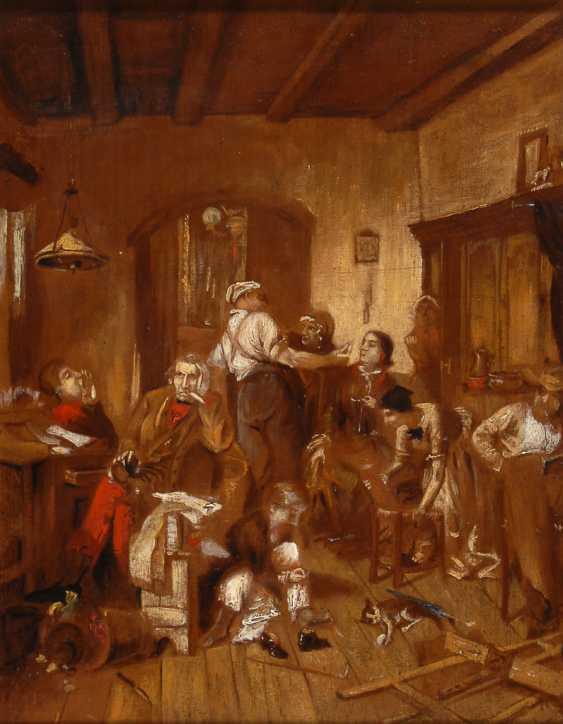 DEFREGelbgoldER, Franz von zugeschrieben: Studie mit Familie im Atelier. - Foto 1