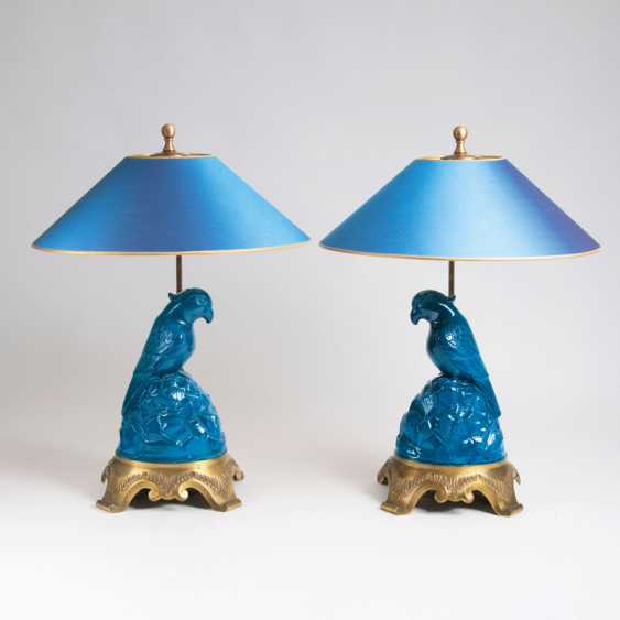 """""""Pair Of Victorian Table Lamps 'Parrot""""' - photo 1"""