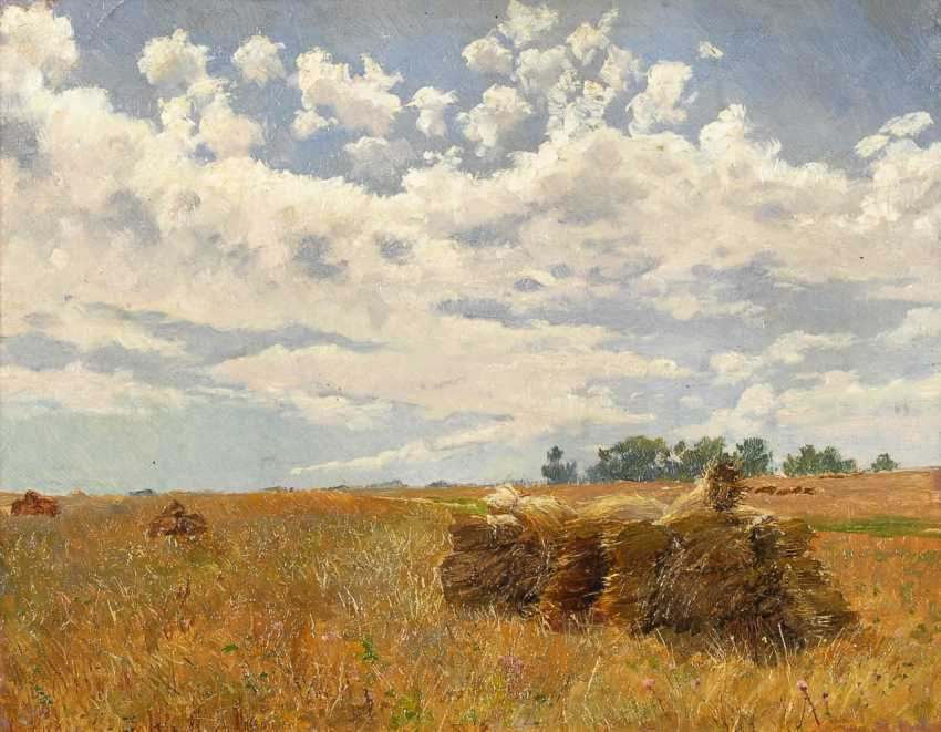 The Düsseldorf Painter: Sunny Harvest Landscape. - photo 1