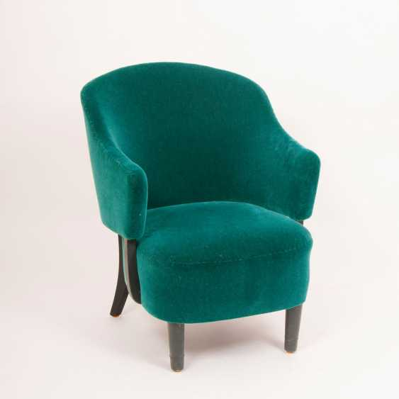 """Bottle Green Mid-Century Upholstered Armchair"" - photo 1"