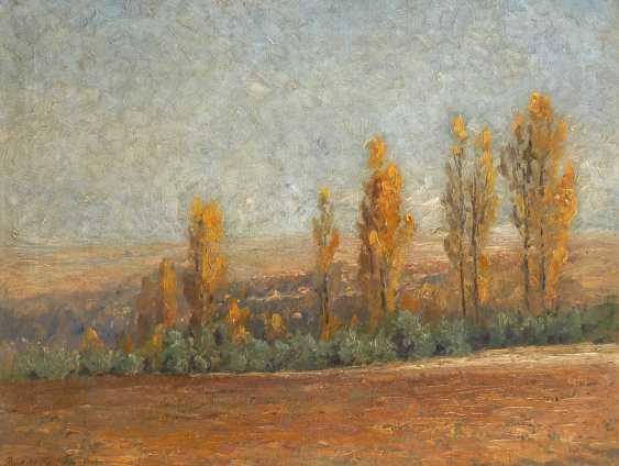 FÖRSTER, Berthold PauLänge: Pappeln im Herbst. - Foto 1