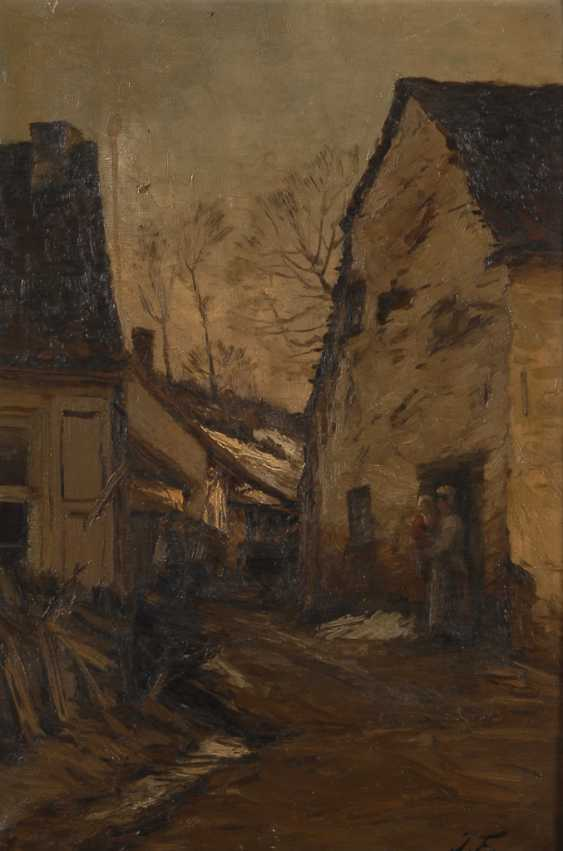FRANCOIS, Joseph: the village street in the Winter. - photo 1
