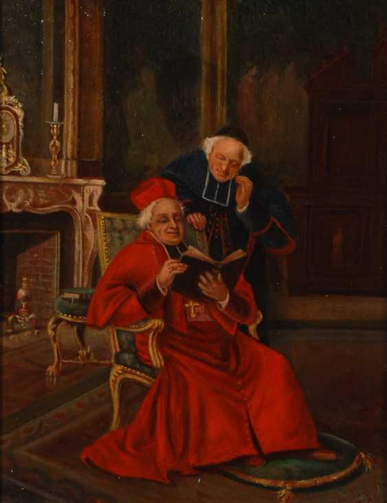 Französischer Maler: Lesender Kardinal. - Foto 1