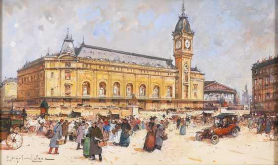 GALIEN-LALOUE, Eugène: Vor dem Gare de Lyon in Paris. - Foto 1