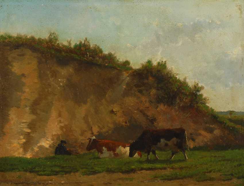 GAUTIER, Louis Francois: Kühe und Hirten im Gebirge. - Foto 1