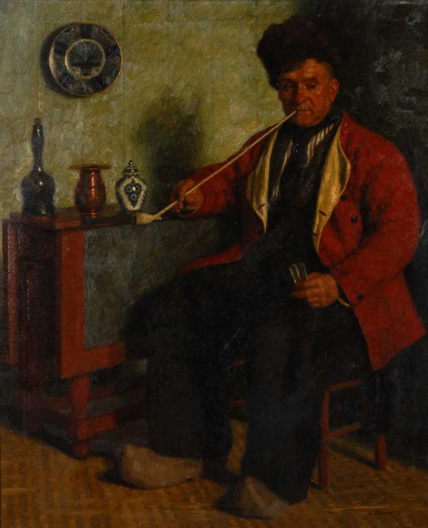 GDANIETZ, Wilhelm: Rauchender Fischer. - Foto 1