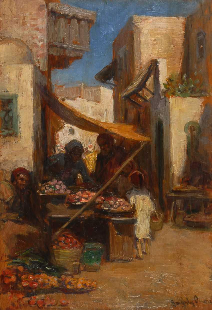 GERGELY, Imre: Orientalischer Markt. - Foto 1
