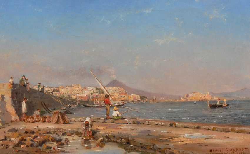 GIRARDET, Henri LeópolDurchmesser: Fischer am Rand Neapels. - Foto 1