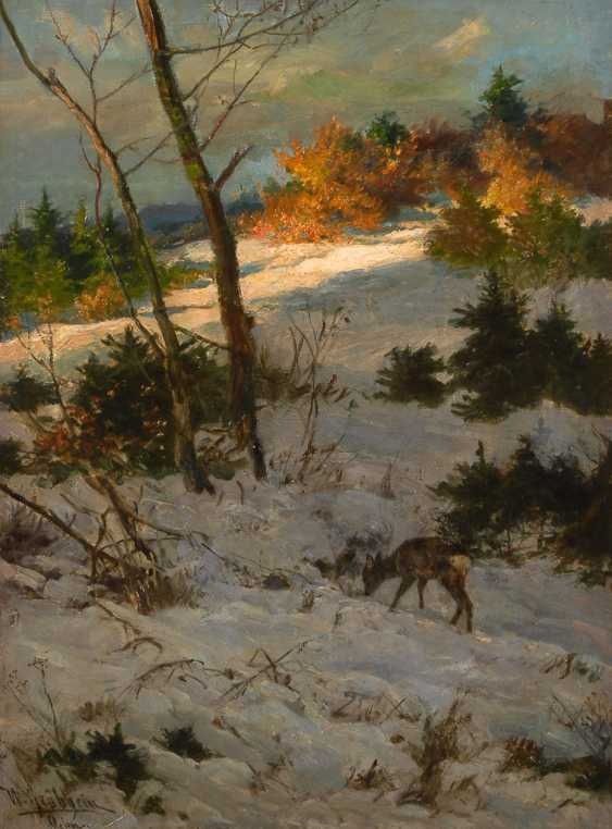 GRÄBHEIN, Wilhelm: fawn on a snowy slope. - photo 1
