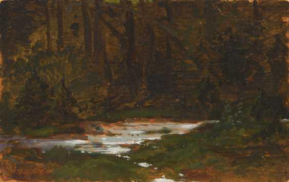 HAMMER, Guido zugeschrieben: Kleine Waldstudie. - Foto 1