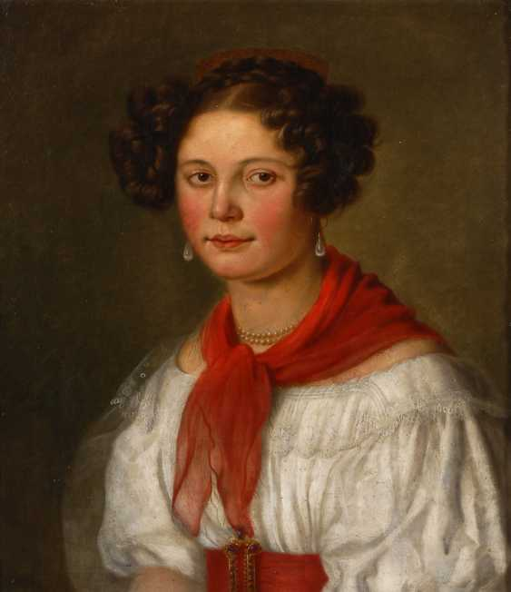 HEINEL, Johann Philipp: Bildnis einer jungen Frau. - Foto 1