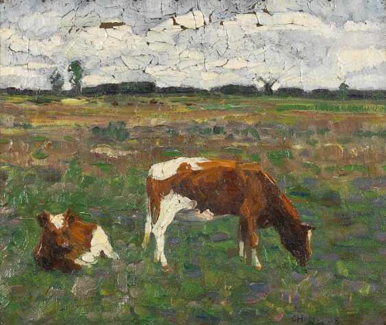 HOLM, C.: Zwei Kühe. - Foto 1