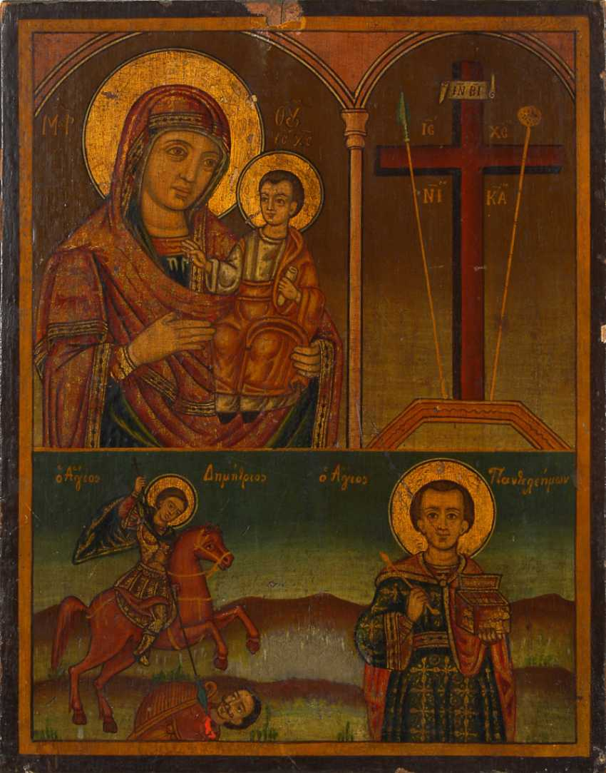 Icon with Mary and child. - photo 1
