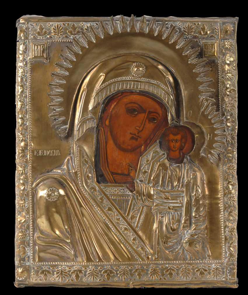 Ikone mit Maria und Kind. - Foto 1