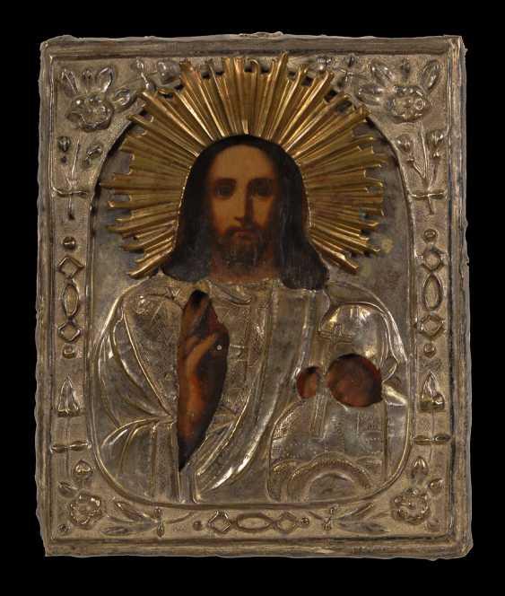 Ikone mit Christus Pantokrator. - Foto 1