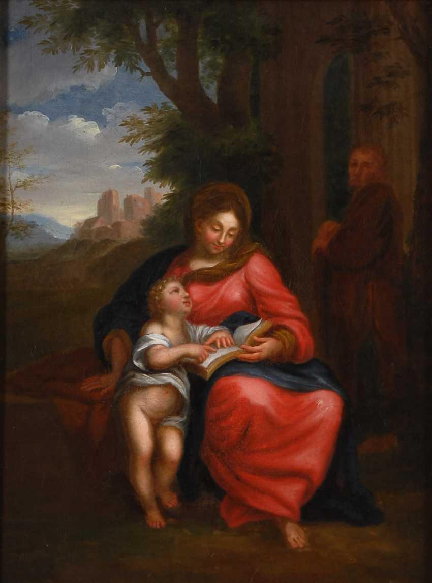 Italien 18. JahrhunderTiefe: Maria mit Jesusknaben. - Foto 1