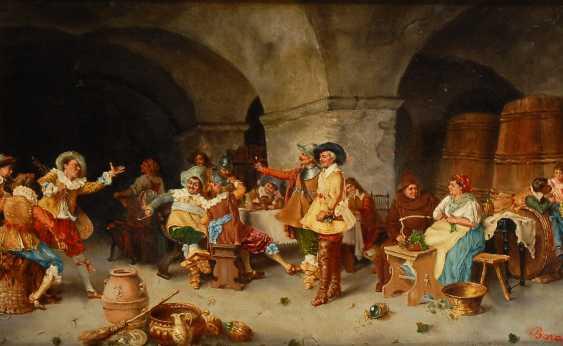 Italienischer Maler: Genreszene im Weinkeller. - Foto 1