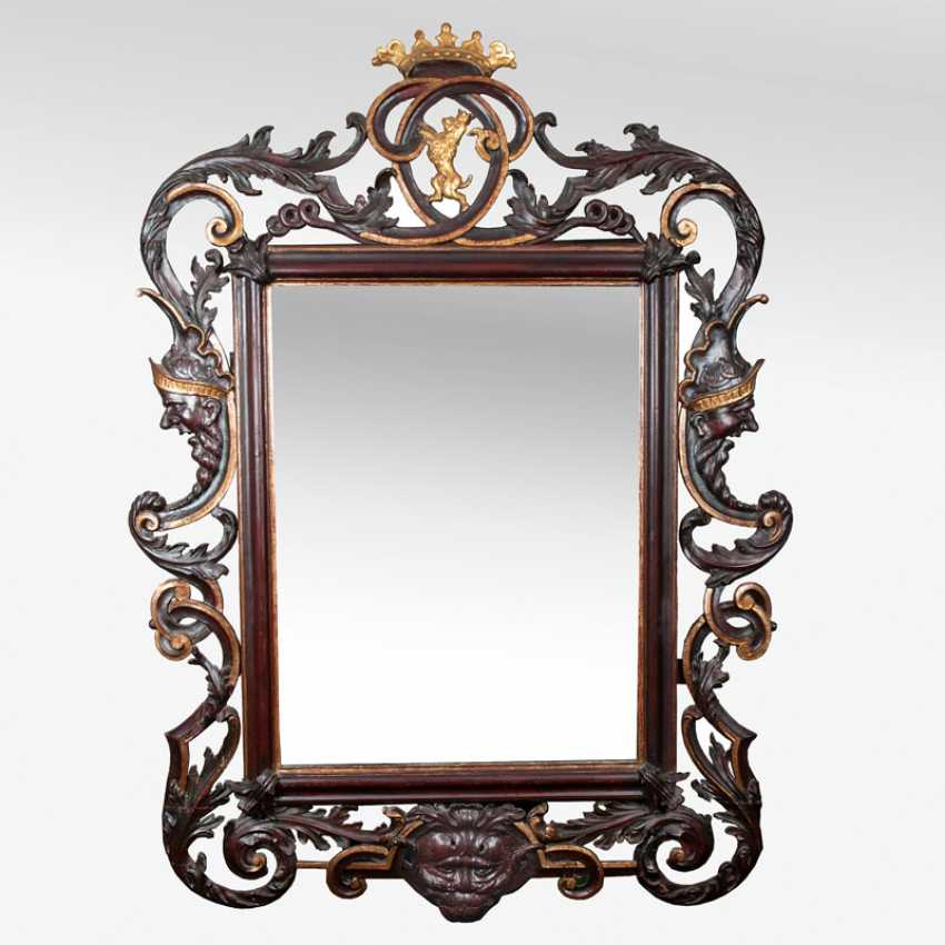 """""""Large Baroque mirror with Grotesques and gargoyles"""" - photo 1"""