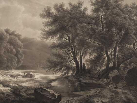 JOHANN, Hermann: Seeufer im Gebirge. - Foto 1