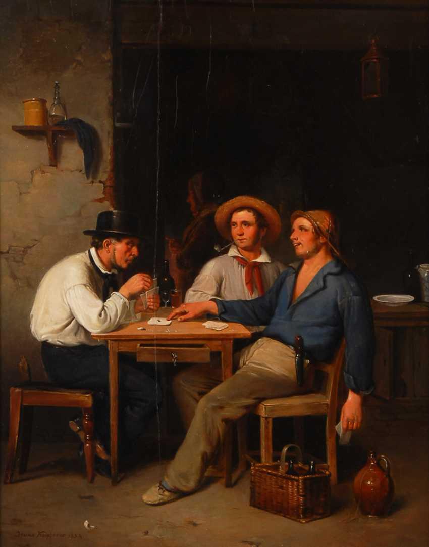 KAPFERER, Hans: Gaunerei beim Kartenspiel. - Foto 1