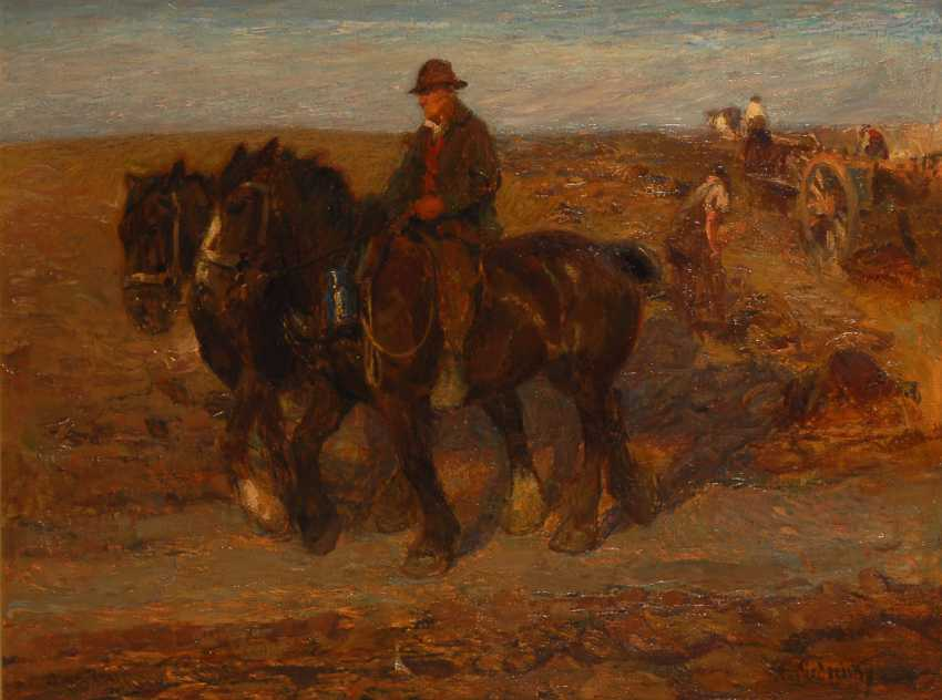 KIEDERICH, Franz Ludwig: Bauern bei der Ernte. - Foto 1