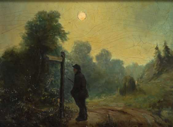 KNIKKER, J.S.: Wanderer im Mondschein. - Foto 1