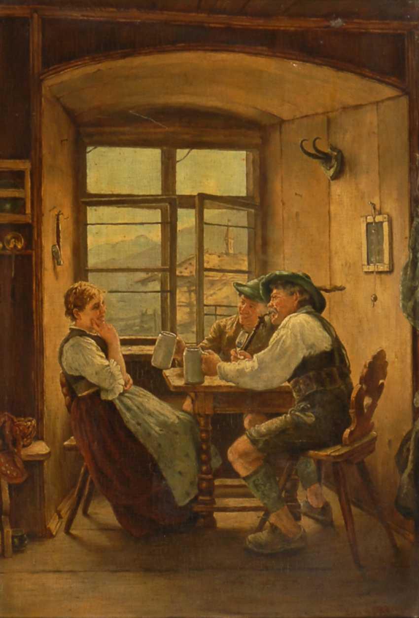 Kopie nach Emil Rau: In der Stube. - Foto 1