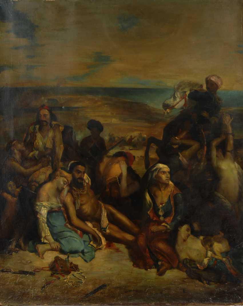 """Kopie nach Eugène Delacroix: """"Scènes des massacres de Scio"""". - photo 1"""