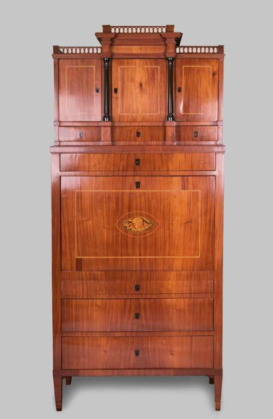 """Biedermeier writing Cabinet with shell motif"" - photo 1"